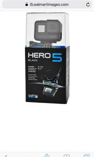 GoPro hero 5 with 1 year warranty local/international good for recording on the road