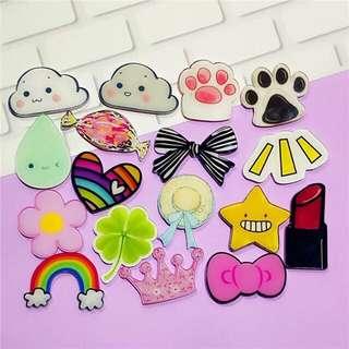 Acrylic brooch pins badge cartoon