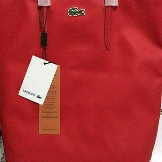 Authentic Red Lacoste Backpack