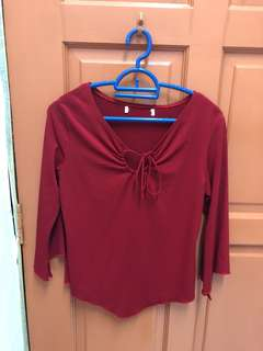 Red color shirt