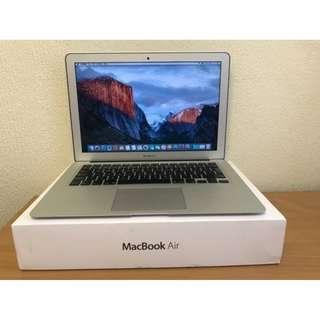 APPLE MacBook Air 13 i5-1.6 128G HD6000 近全新 電池僅95次 保護貼