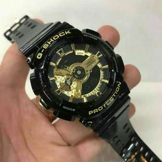 GSHOCK BLACK/GOLD GLOSSY