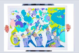 Marching Band artwork (screenprint)