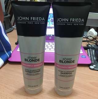 John Frieda Sheer blonde shampoo and conditioner