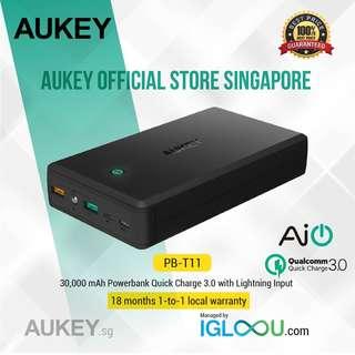 🚚 [PB-T11] AUKEY 30000mAh Quick Charge 3.0 Power Bank