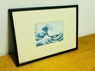 🚚 Hokusai print (with wooden frame)