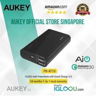 🚚 [PB-AT10] AUKEY 10,050mah Quick Charge 3.0 Power Bank