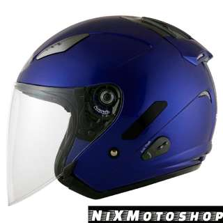 KYT Hellcat Plain Blue Yamaha ( Single Visor )