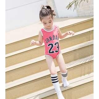 💌籃球風男女童連身泳衣