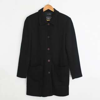 (S-M) Vintage G2000 Long Soft Blazer Jacket Coat with Pockets on Front