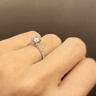 Hearts & Arrows 0.46 Diamond Engagement Ring