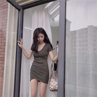 🚚 Retro Sexy V Neck Dress