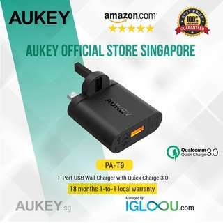 🚚 [PA-T9] AUKEY 19.5W Quick Charge 3.0 USB Wall Charger
