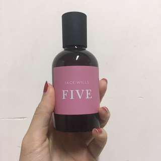 jack wills FIVE perfume (soft sweet berry scent)
