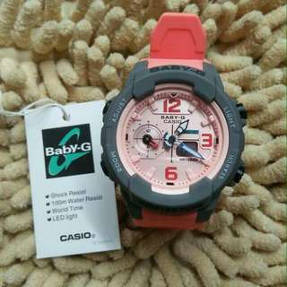 BABY G BGA230 ORANGE/GREY