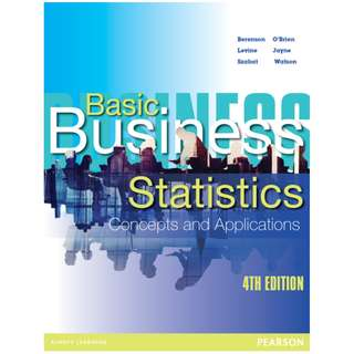 Pearson's Basic Business Statistics 4th Edition