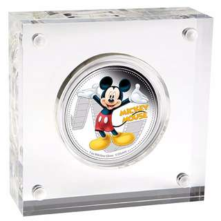 Limited 2014 $2 Disney Mickey & Friends MIckey Mouse 1oz Silver Proof Coin