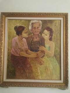 lukisan  karya pelukis Bali