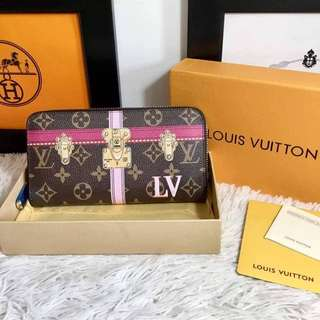 LV Summer Trunk Monogram Canvas Zippy Wallet