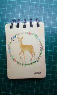 Lined ring Notepad (7.5×10.5cm)