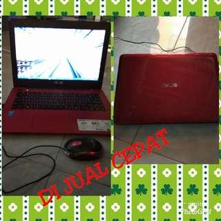 jual laptop Asus A455L masih mulus pemakaian kurang dari 1 tahun bonus tas dan kipas laptop Nego
