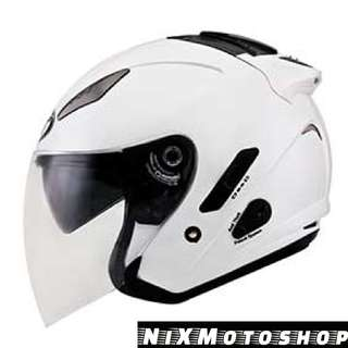 KYT Hellcat Plain White Gloss ( Single Visor )