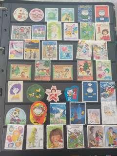日本卡通系列郵票(已蓋銷郵票)