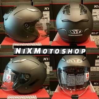 KYT Hellcat Plain Matt Black ( Single Visor )