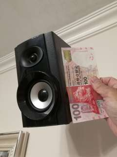 Speaker 高低音木箱喇叭 擴音器 兩個或單售
