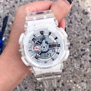 Authentic Brand New Casio Baby-G BA-110CR-7A Coral Reef Aqua White Semi Transparent Ladies Watch BA110 BA110CR BA110CR-7A BA110CR-7