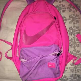 neon pink backpack