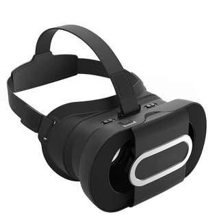 826.  VR Headset, JoyGeek Portable Virtual Reality Glasses Fold 3D VR Glasses Google Cardboard V2.0 with Headband for 4-6 inch iPhone X/8/8 Plus/7/7 Plus/6s/6s Plus/6 and Android Samsung Nexus Huawei HTC MOTO Sony LG Smartphones(Black)