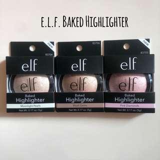 e.l.f. elf Baked Highlighter Moonlight Pearls / Blush Gems / Pink Diamonds