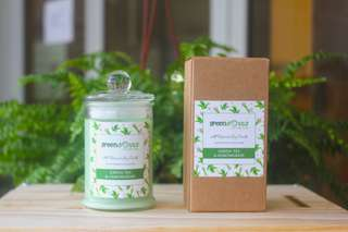 🚚 Green Tea Lemongrass Scented Soy Candle 175ml