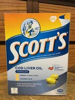 Scott's Cod Liver Oil 500 capsules