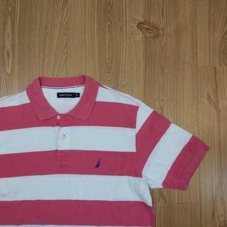 🚚 NAUTICA 帆船牌 條文短袖polo衫