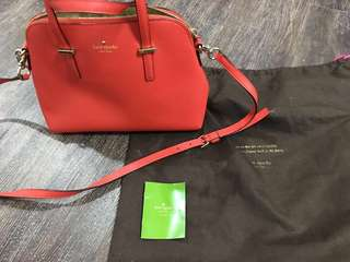 Kate Spade Red Sling Bag Authentic Orig