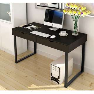 (Ready Stock)Nice Two-Drawer Table with Metal Legs