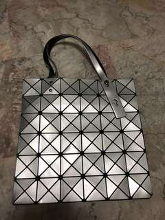 Issey Miyake Baobao bag in silver (Inspired)