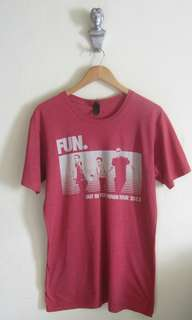 Tshirt band fun nate ruess (fun tour 2013)