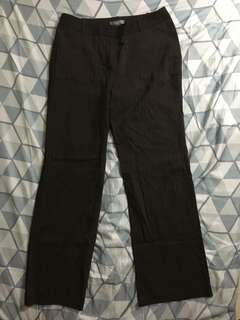 Ann taylor striped brown trousers size 30 length 38