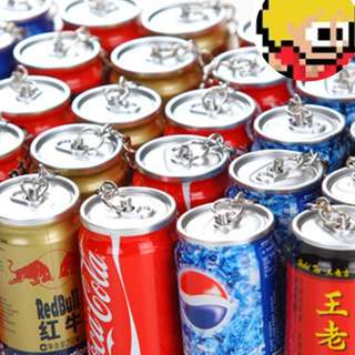 Creative Stationery Coke Pen Beverage Retractable Ballpoint Pen Can Keychain COKE PEPSI SPRITE RED BULL