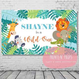 Personalised Banner - Jungle