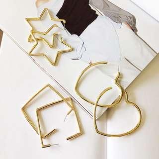 🚚 歐美幾何耳環