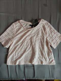 New w Tag Topshop baby pink tee top