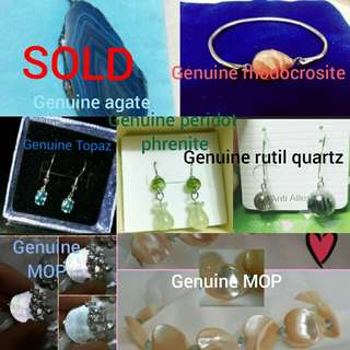 Free shipping for all genuine stone jewellery