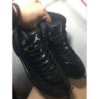 喬丹12代 AJ12黑金 藍球鞋 喬12 真標頭層皮男女藍球鞋