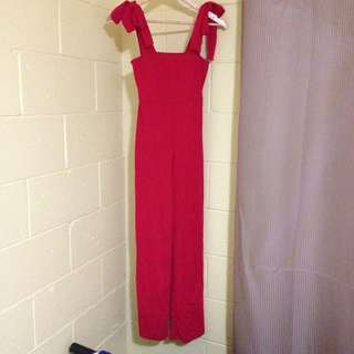 Size 6: Red Jumpsuit