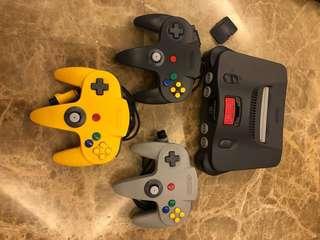 Vintage Nintendo64 Console + Games Lot