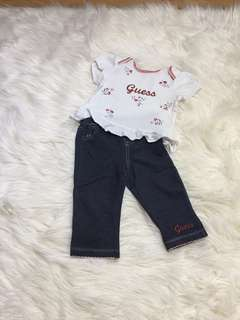 Original Baby Guess Outfit Set 6-9M